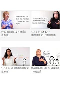 Vidéos sur le bilinguisme