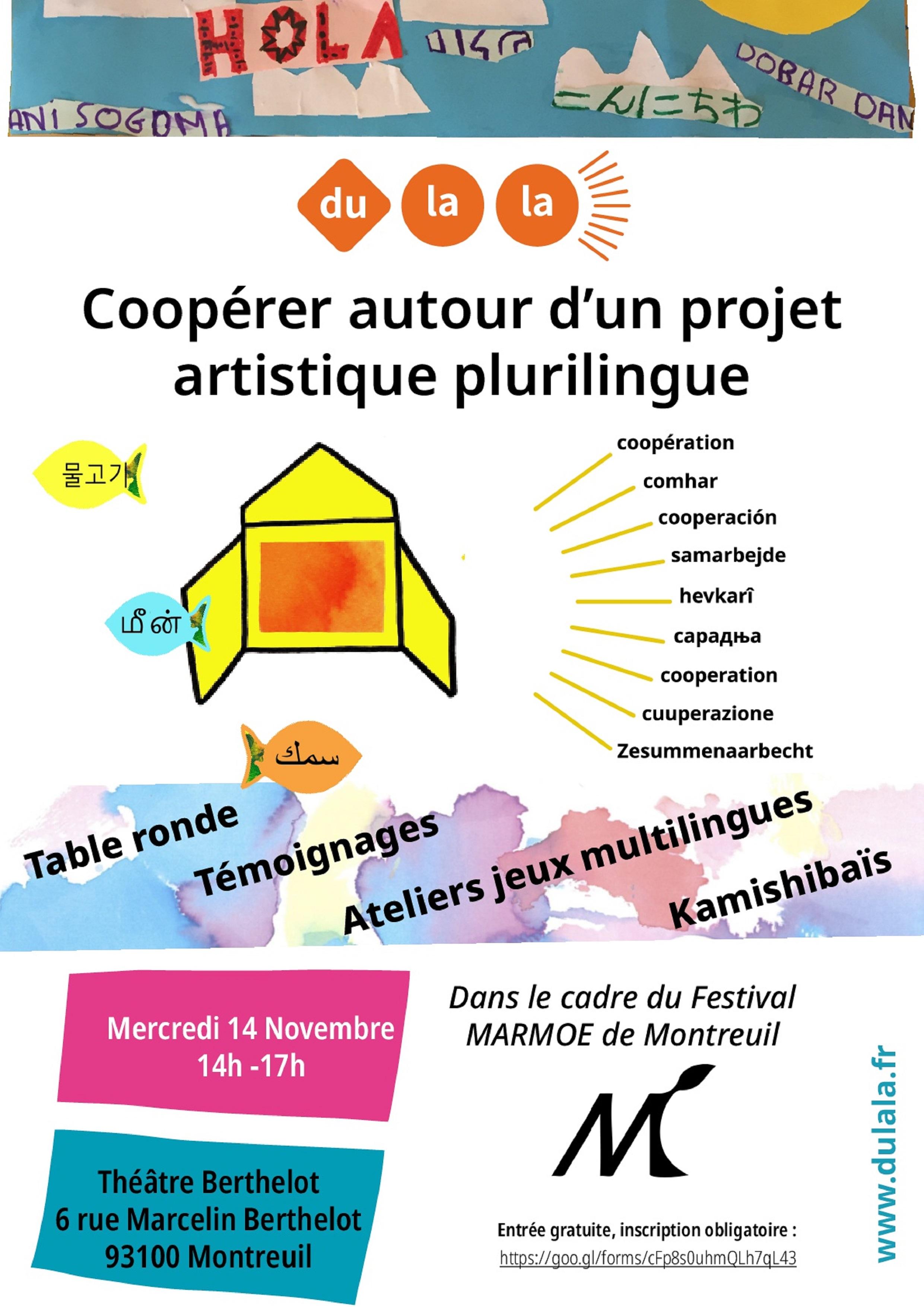 Cooperer autour d'un projet artistique et plurilingue