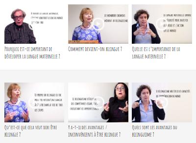Vidéos bilinguisme