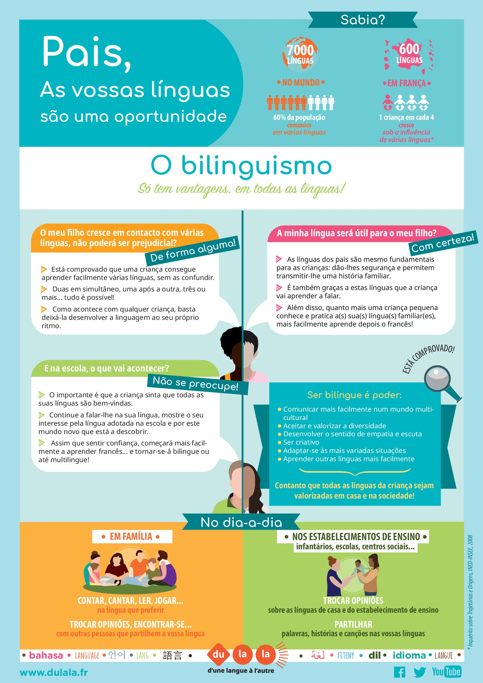 Affiche parents bilinguisme portugais