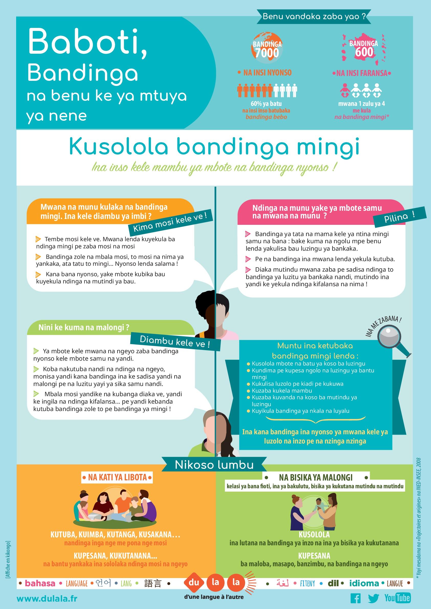 Affiche parents bilinguisme kikongo