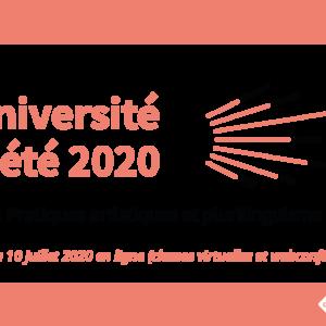 Université d'été 2020 en ligne – « Pratiques artistiques et plurilinguisme »