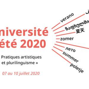 Université d'été 2020 – « Pratiques artistiques et plurilinguisme »