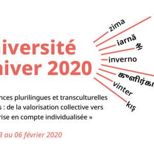Université d'hiver 2020 – « Compétences plurilingues et transculturelles des élèves »