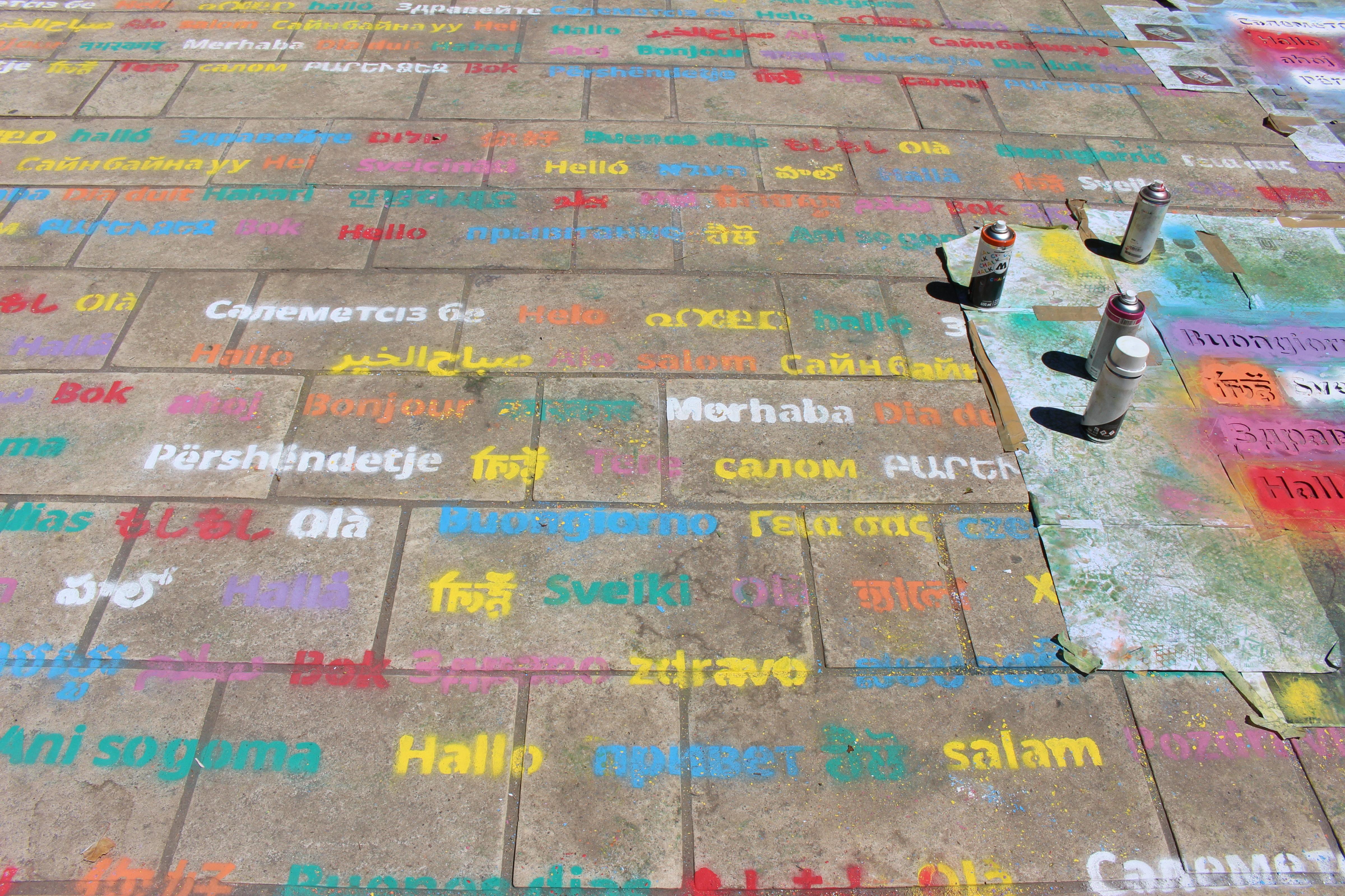 Place aux langues graffitis