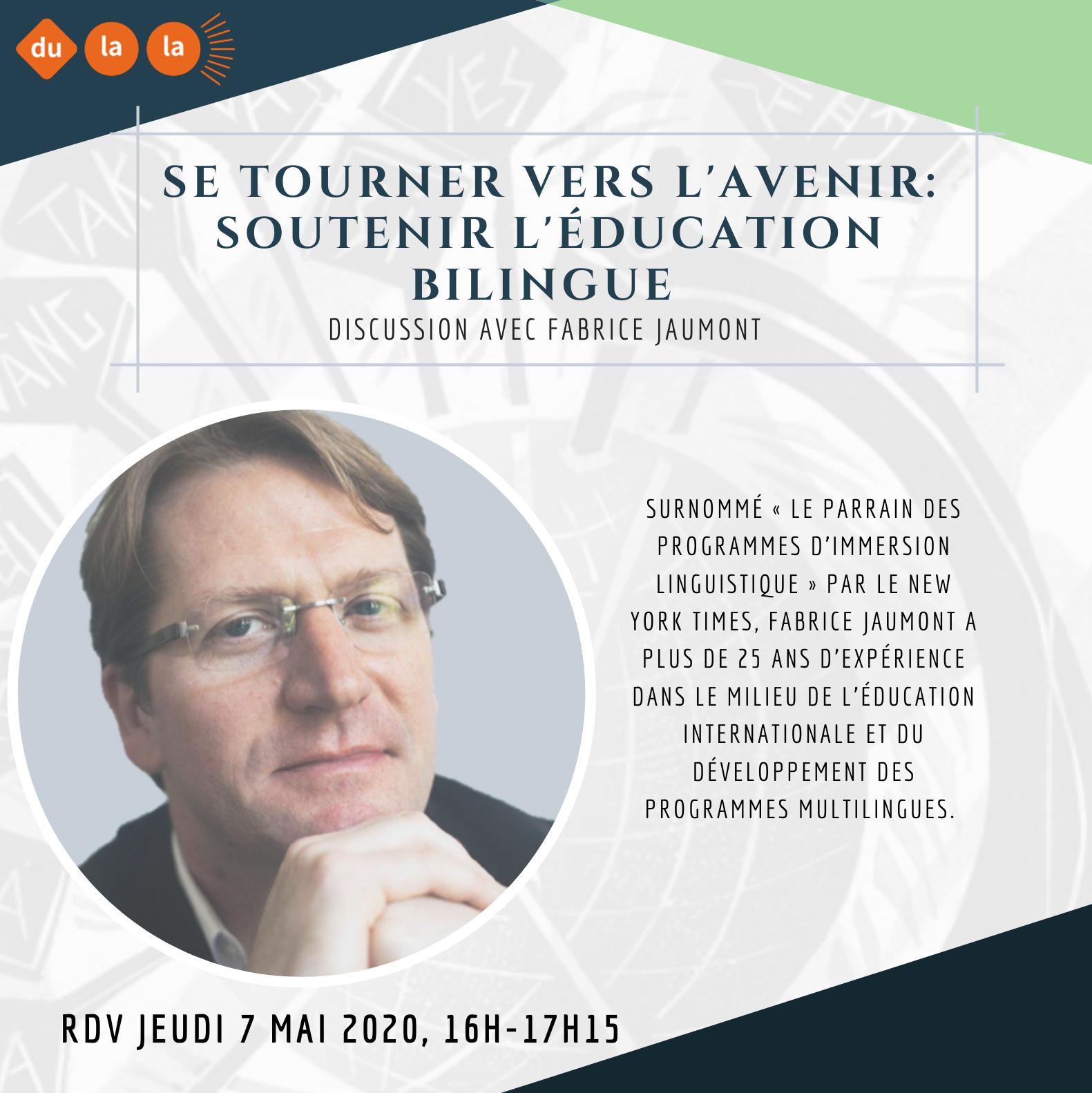 Webinaire éducation bilingue Fabrice Jaumont