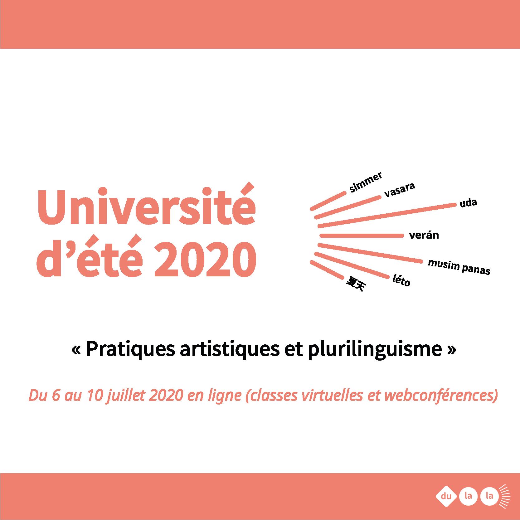 Université été 2020 en ligne